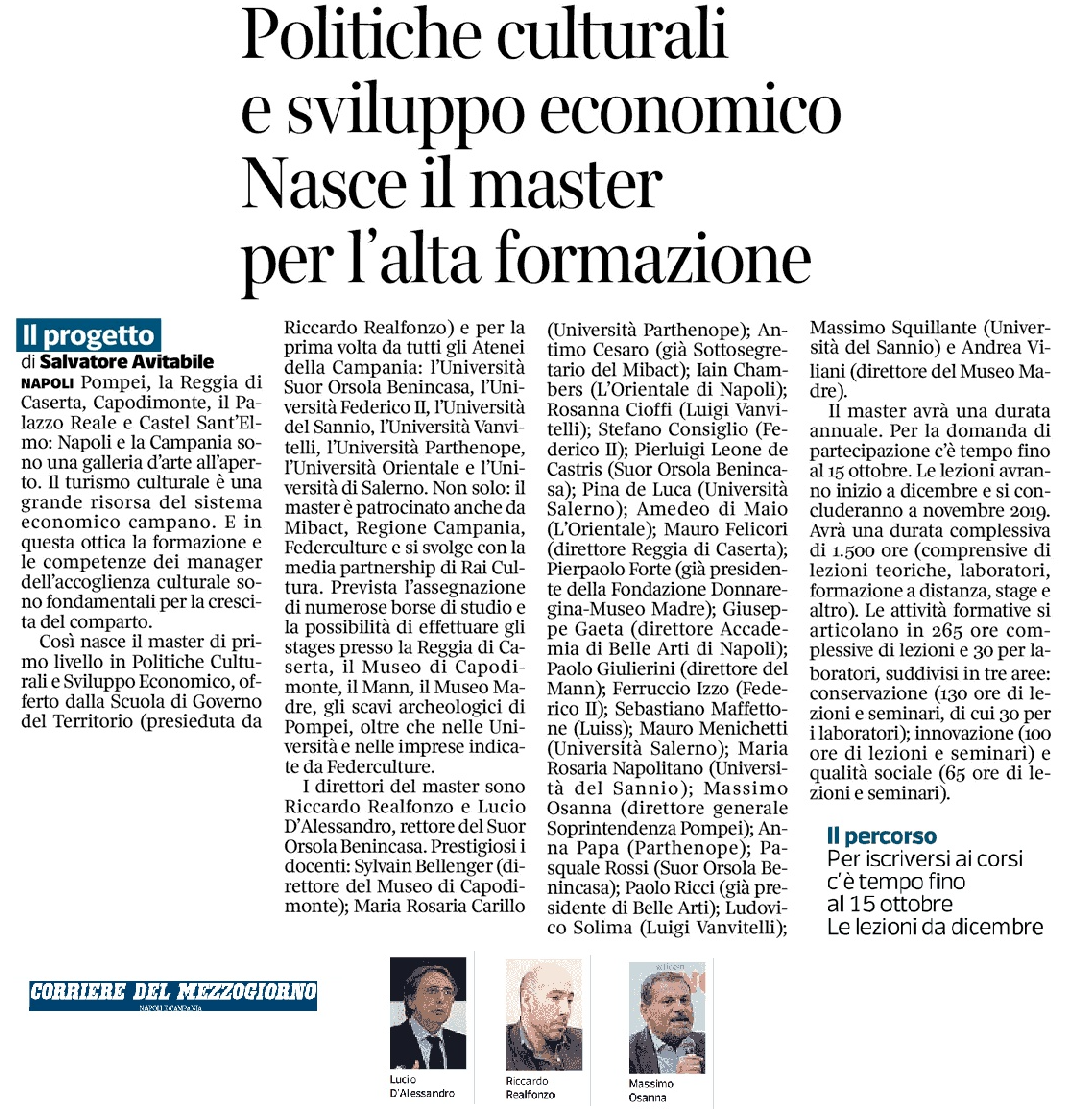 Master Politiche Culturali